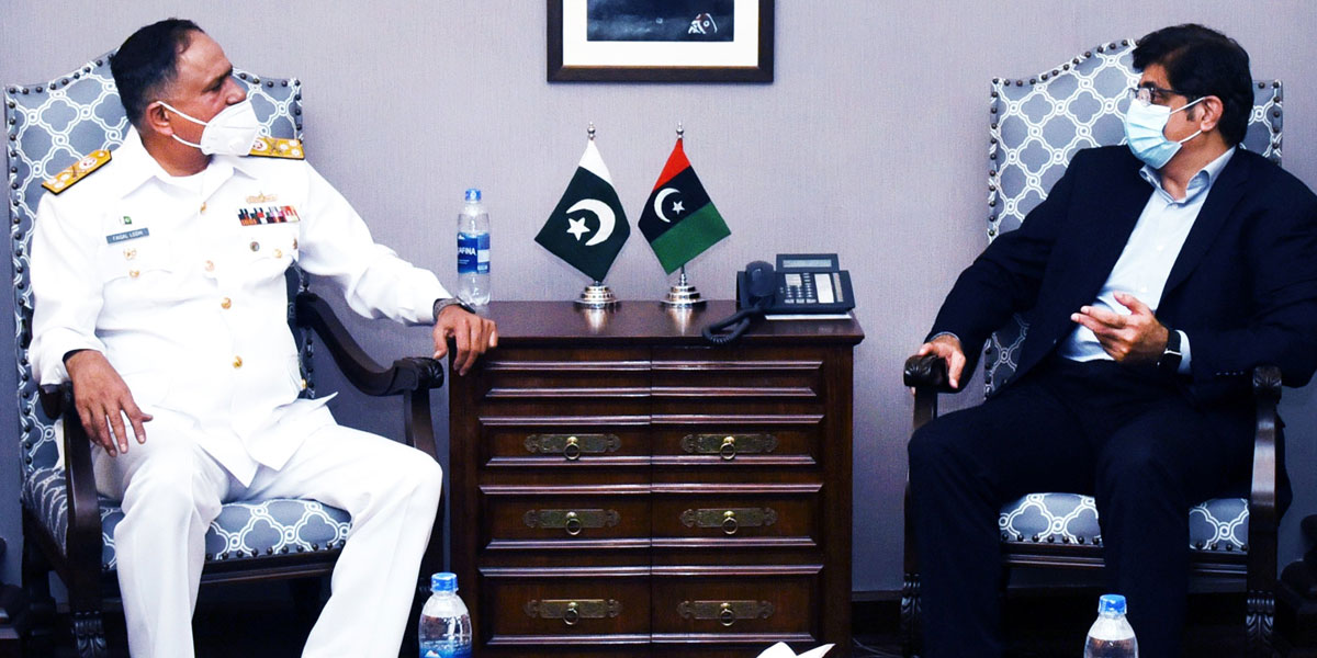 New Commander of Pakistan Navy Calls On Sindh CM