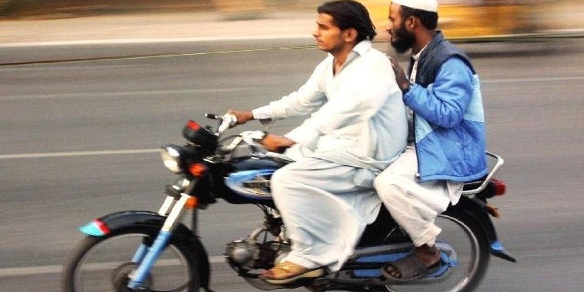 Pillion riding Karachi