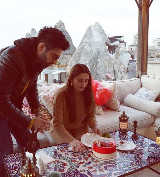 Aiman Khan birthday celebration