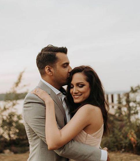 Meera Ansari with husband