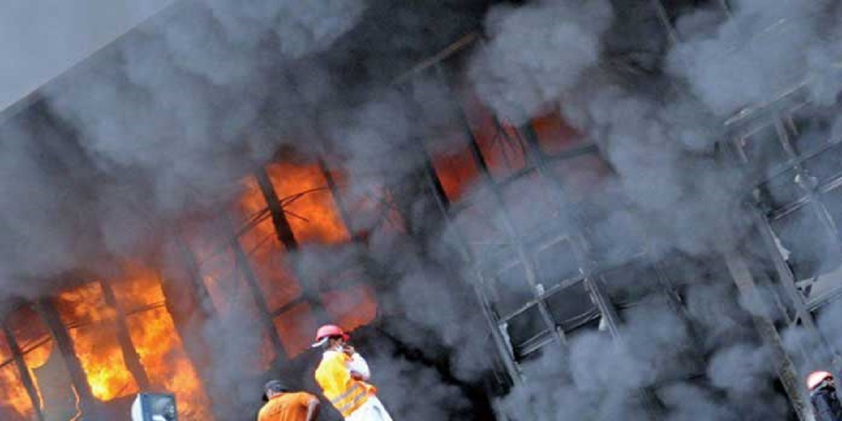 Fire in factory in Orangi Karachi