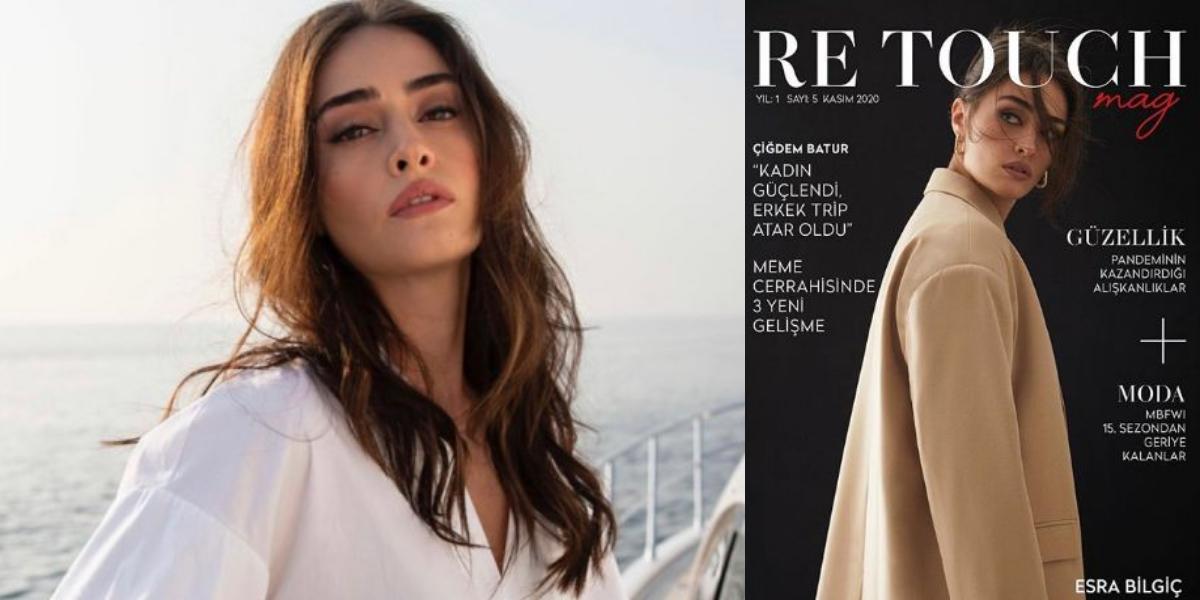 Esra Bilgiç Turkish magazine cover