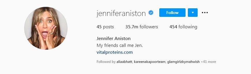 Jennifer Aniston Instagram