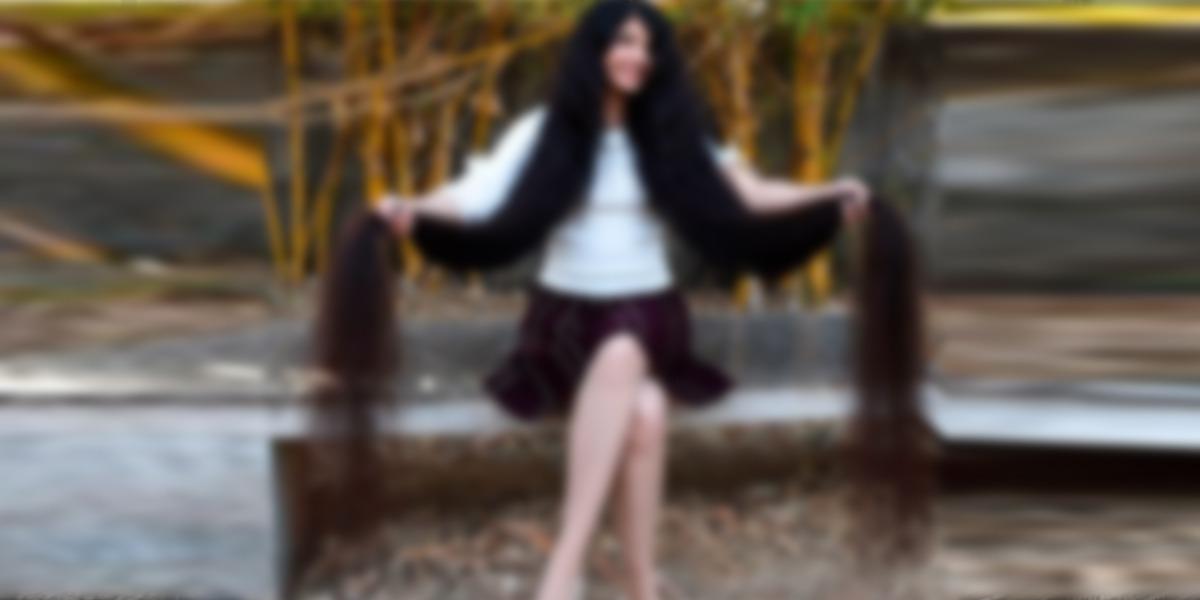 Nilanshi Patel - longest hair girl