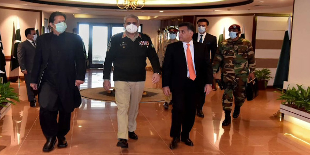 PM Imran ISI headquarters visit