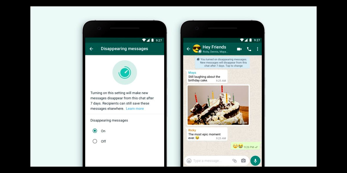 WhatsApp Disappear Messages Feature