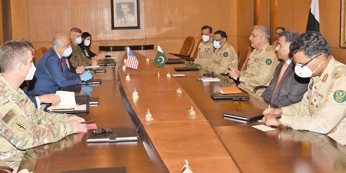 US Negotiator Zalmay Khalilzad Calls On COAS At GHQ