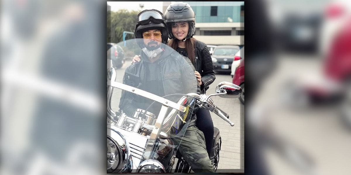 Sana Javed And Umair Jaswal Take Their Romance On Bike Ride
