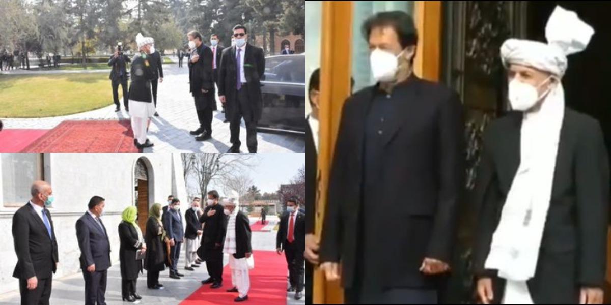 PM Imran, Ashraf Ghani Hold One-On-One Meeting In Kabul
