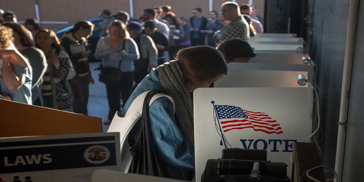 US Election 2020 voting
