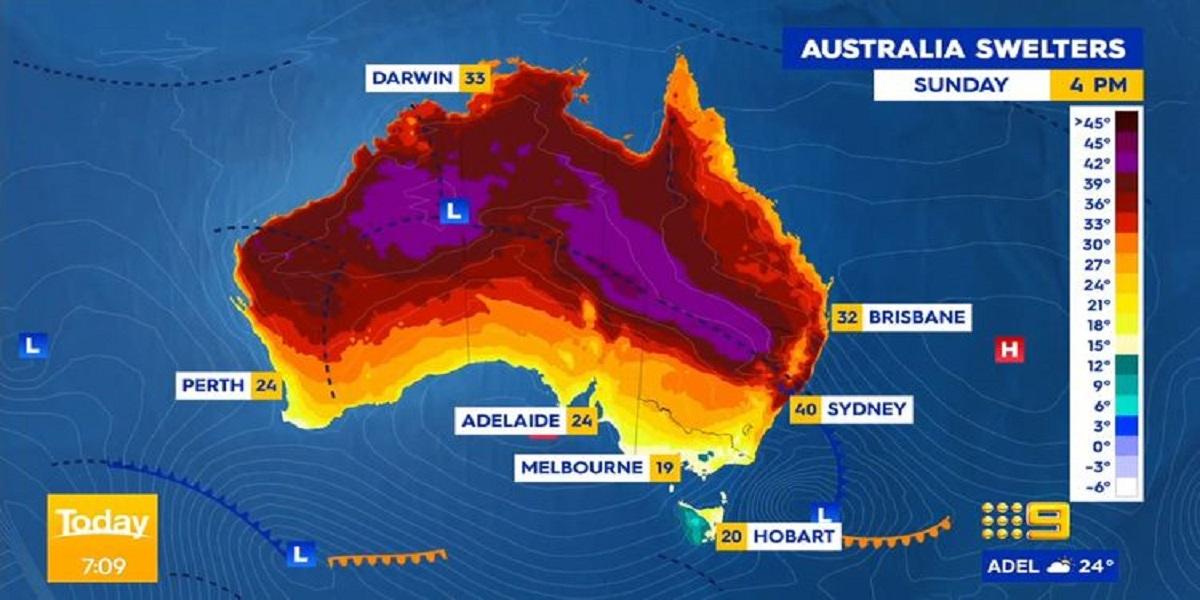 Sydney temperatures