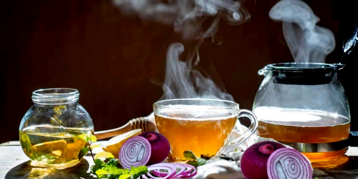 Immunity-boosting onion tea