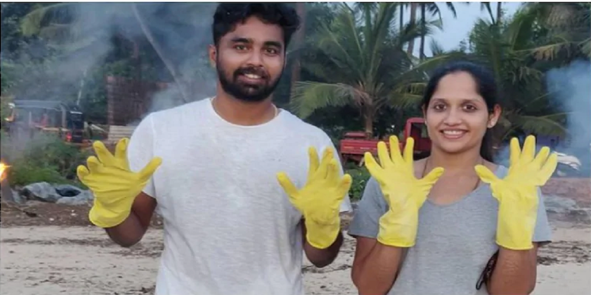Newly-wed couple cancels honeymoon to clean beach