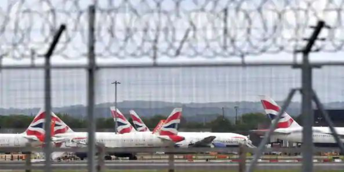 Britain flights suspended