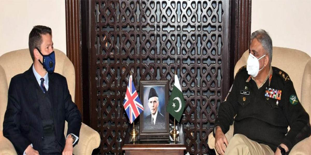 COAS Bajwa meets UK High Commissioner