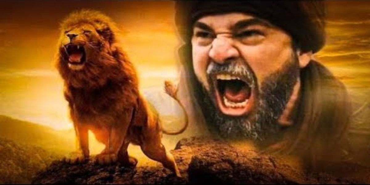 Ertugrul with lion