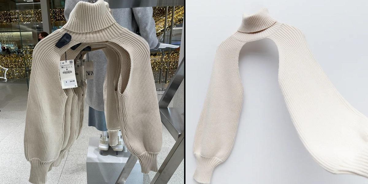 ZARA arm warmer sweater