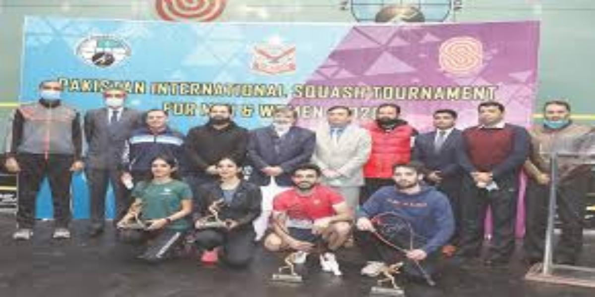Pakistan International squash title won by Tayyab & Madina