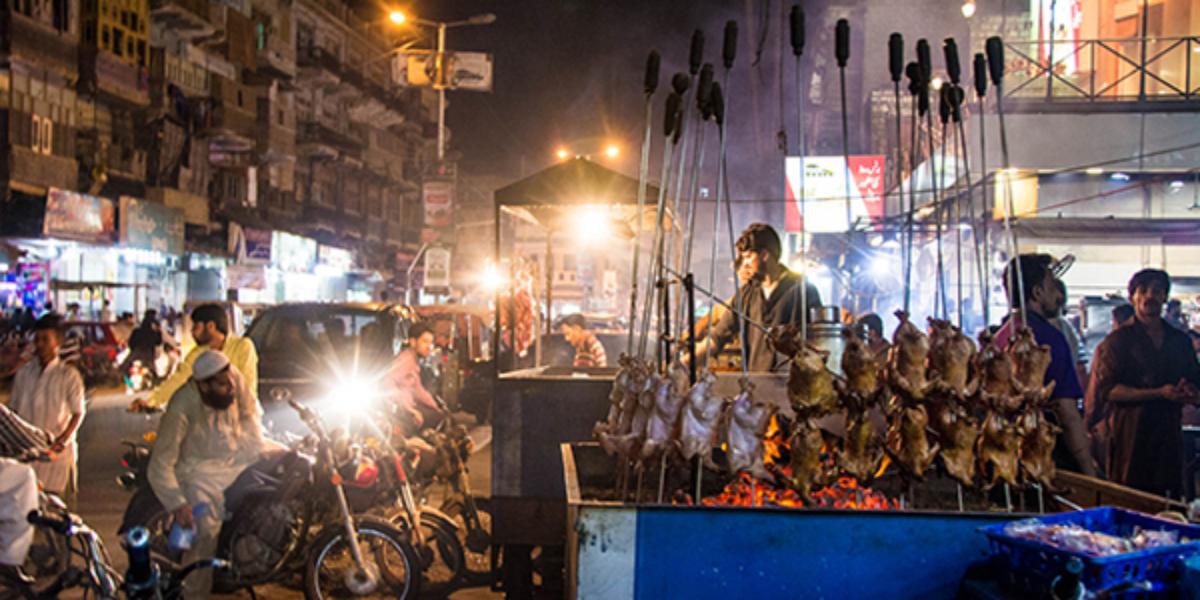 Karachi's Burns Road