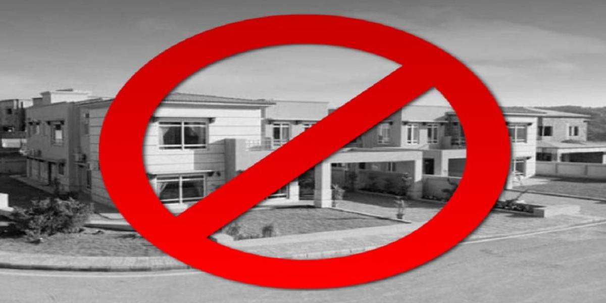 Housing society ban
