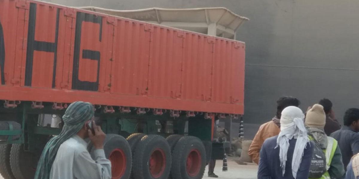 Karachi Port fire