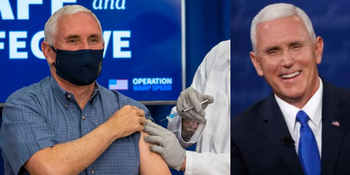 Mike Pence receives vaccination