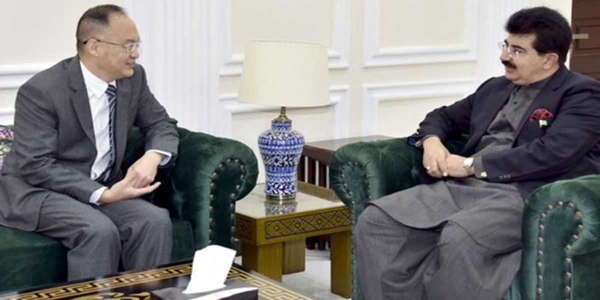 Sadiq Sanjrani meets Chinese Ambassador