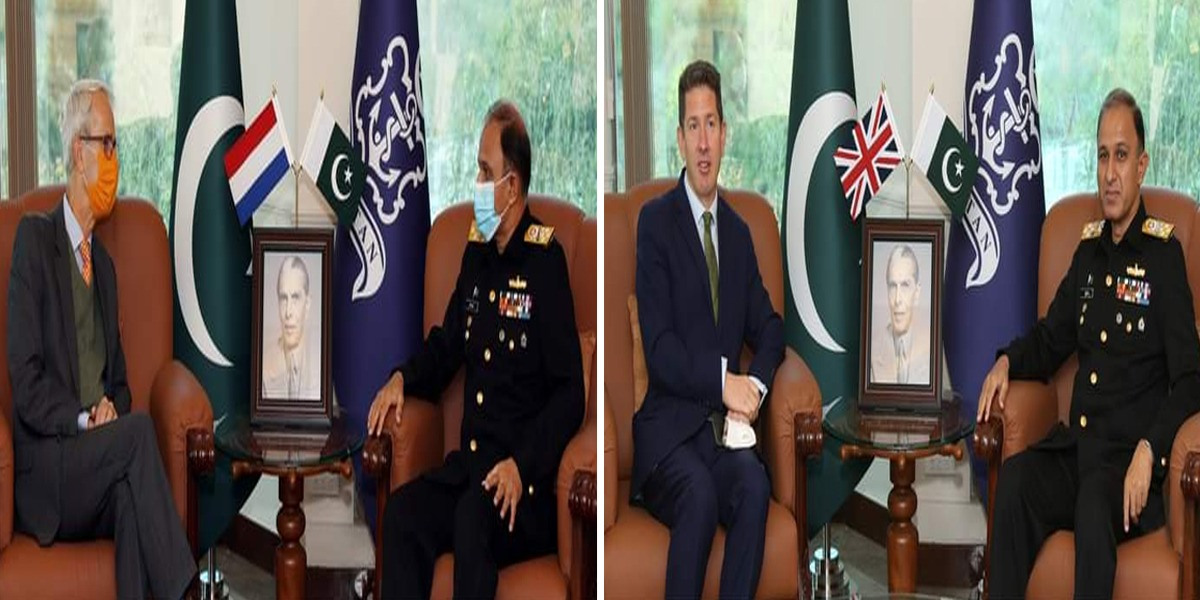 Naval Chief meets BHC and Ambassador of Netherlands