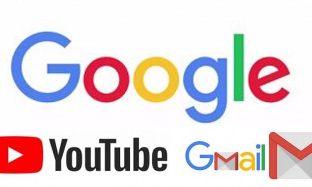 YouTube Gmail down in Pakistan