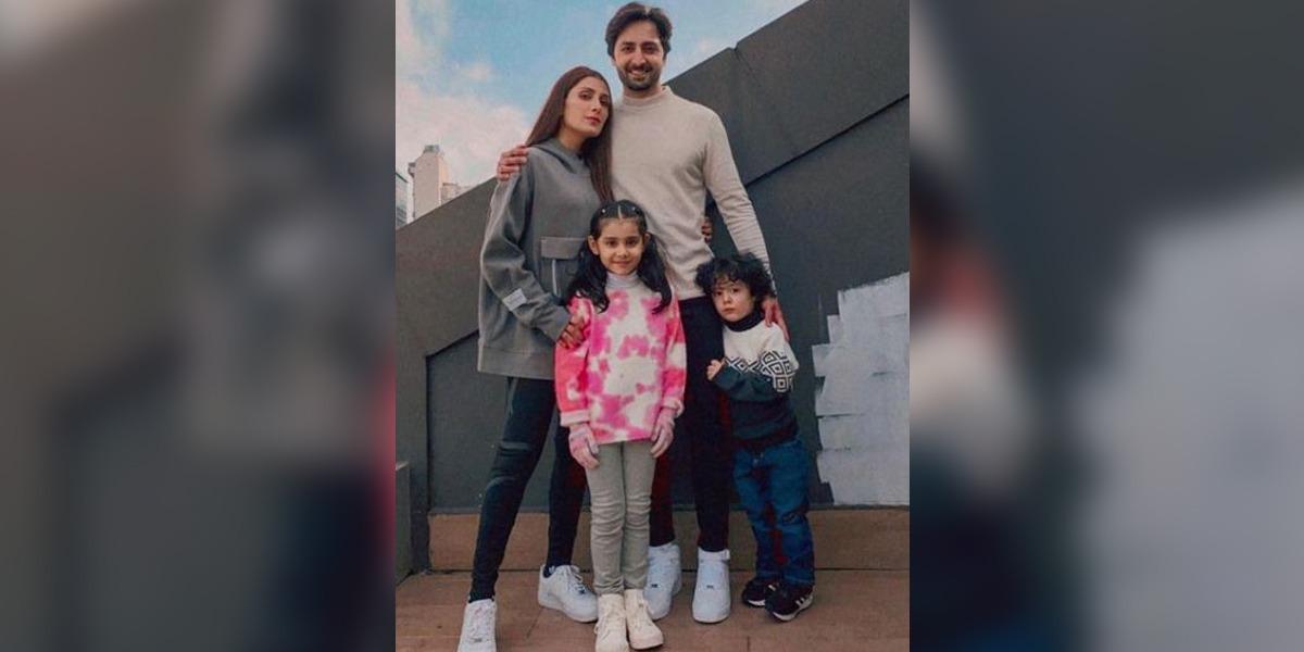 Ayeza Khan with children
