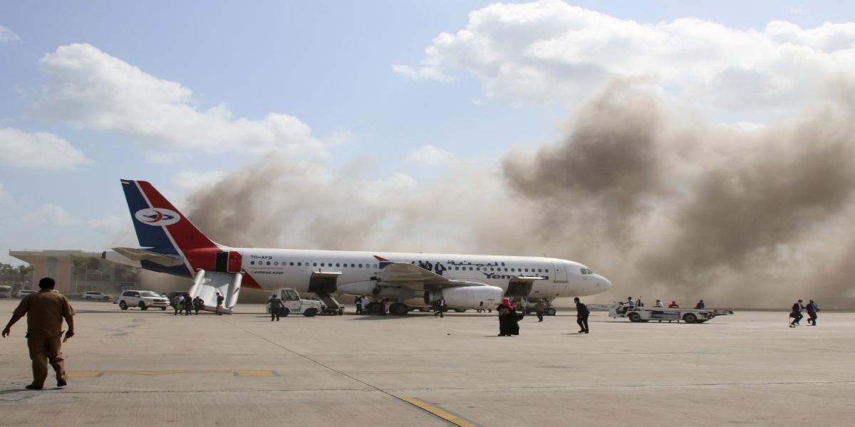 Yemen: Powerful blasts, Gunfire Heard At Aden's Airport