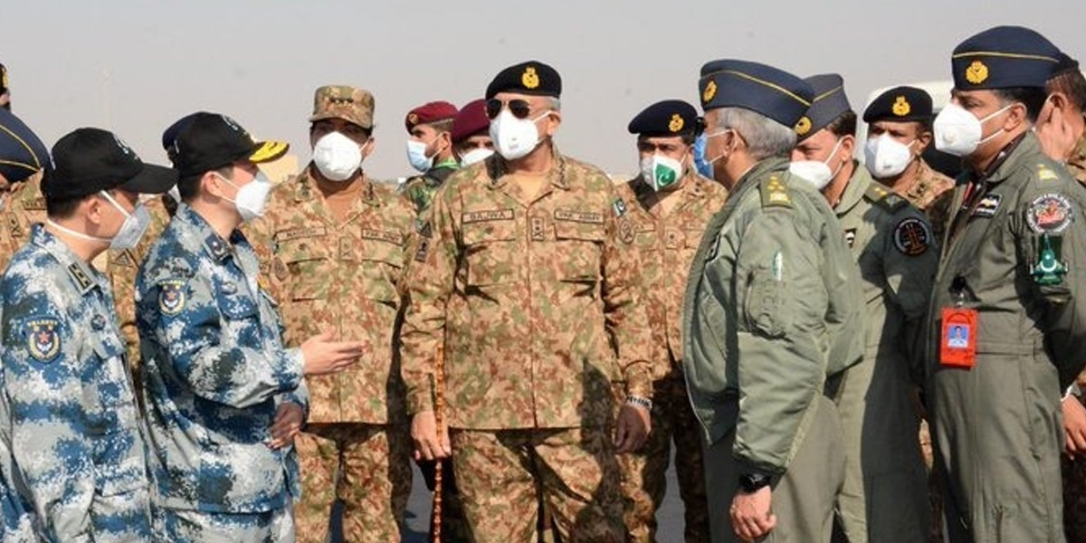 COAS Visits PAF Base To Witness Pak-China Joint Air Exercise