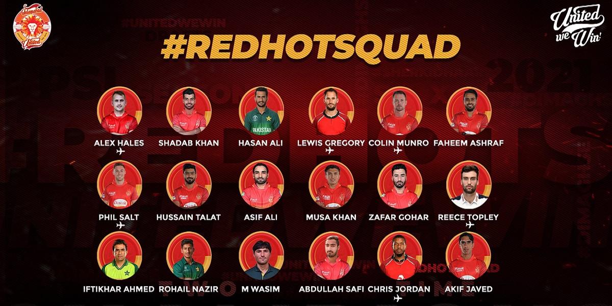 PSL 2021 Islamabad United