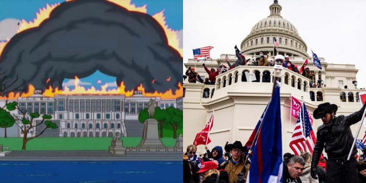 Simpsons Capitol Riots