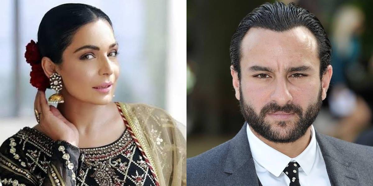 Meera with Saif Ali Khan
