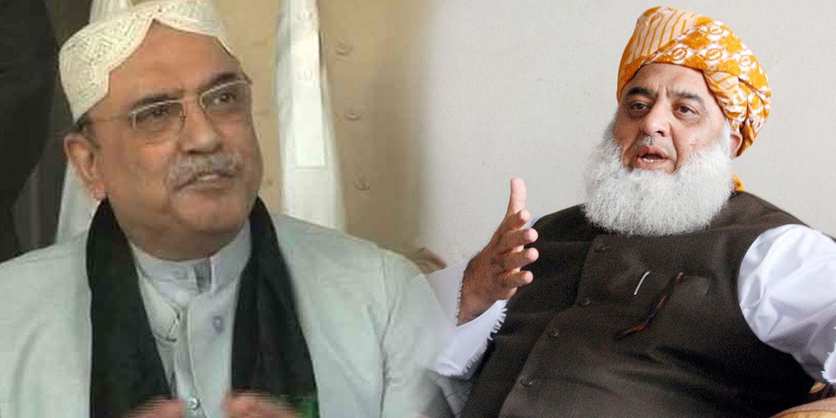 Asif Zardari Fazlur Rehman