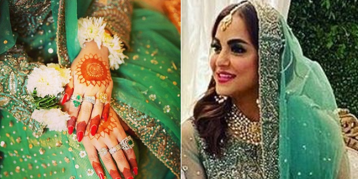 Nadia Khan shares wedding pictures
