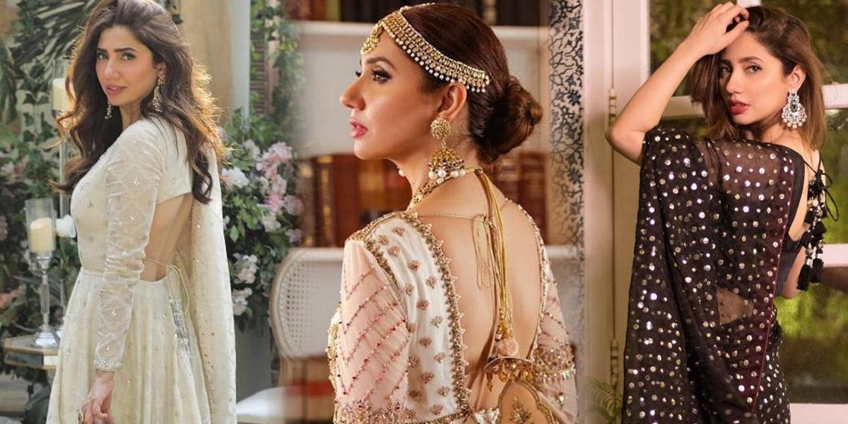 Mahira Khan in backless dresses