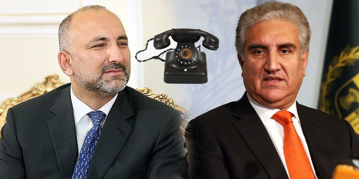 FM Qureshi, Afghan Counterpart Discuss Afghan Peace Process