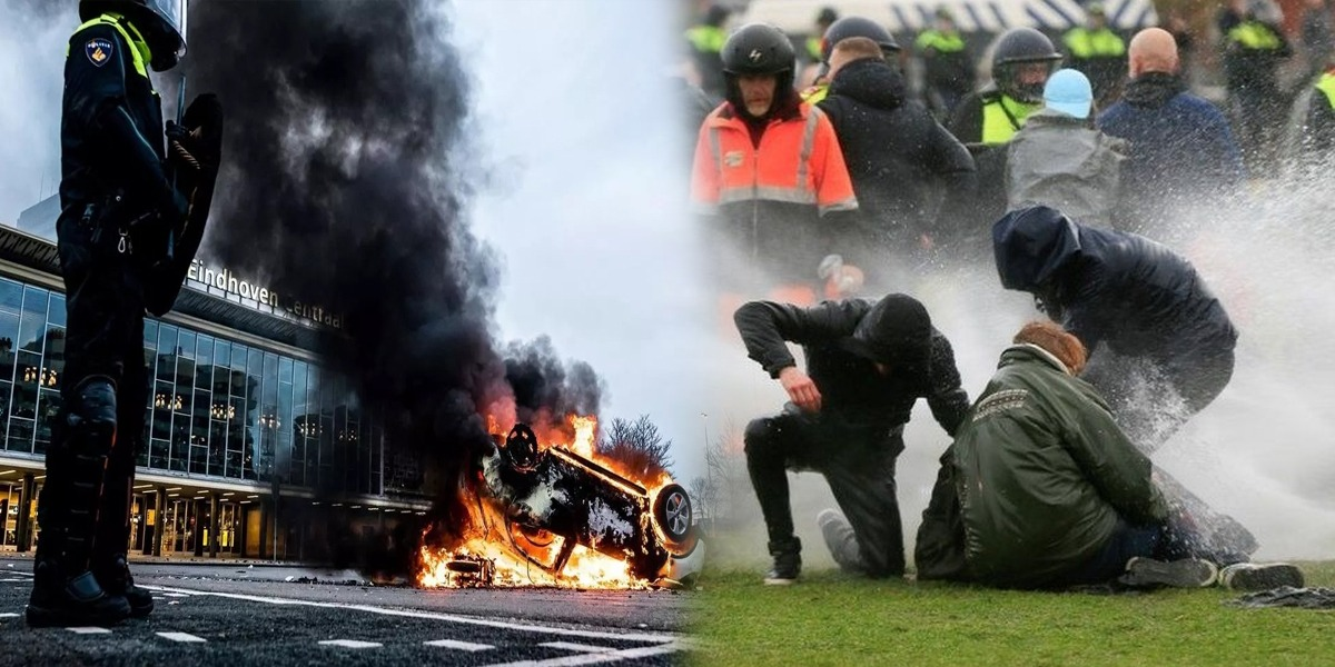 Netherlands: Protest Against COVID Curfew Turns Violent After Looting And Vandalism