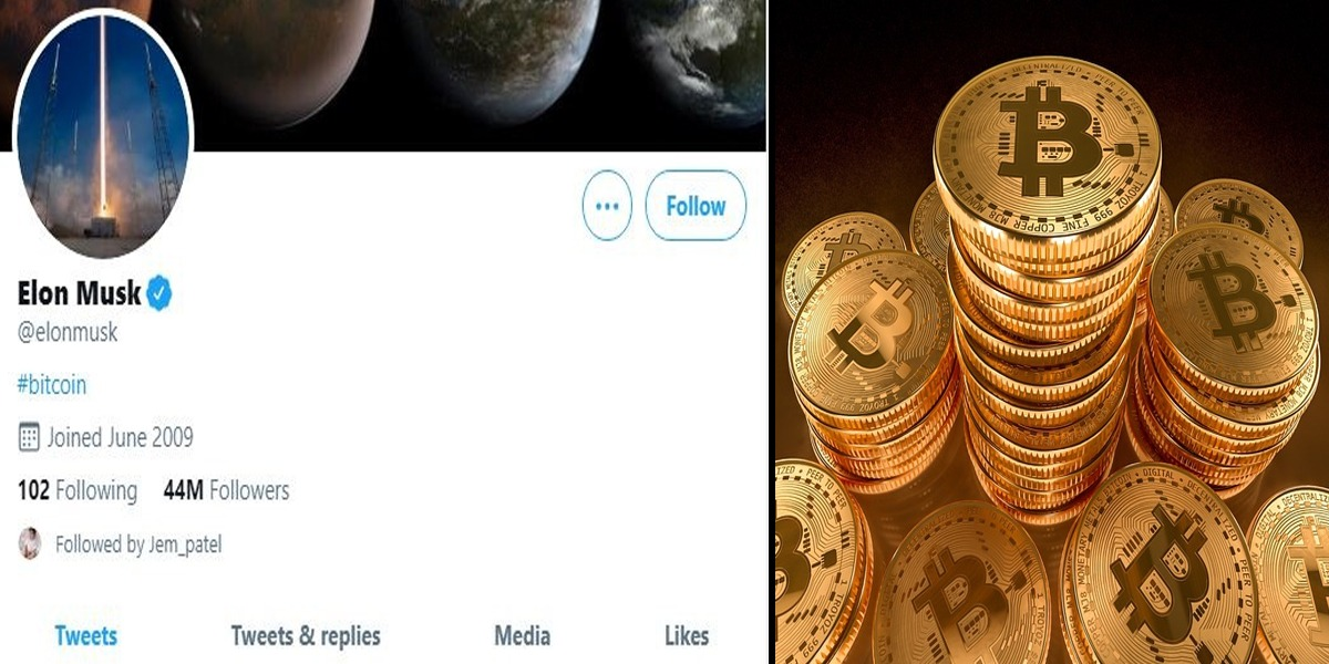 Bitcoin Soars Above $38,000 After Musk Writes #bitcoin On Twitter