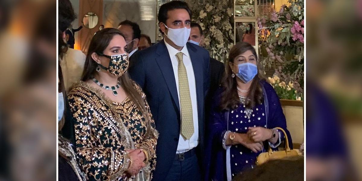 Bakhtawar, Mahmood Chaudhry Host Their Wedding Reception