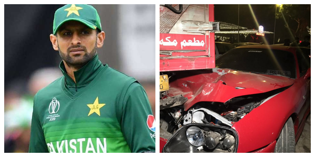 Shoaib Malik Meets With An Accident After Leaving PSL Draft Venue