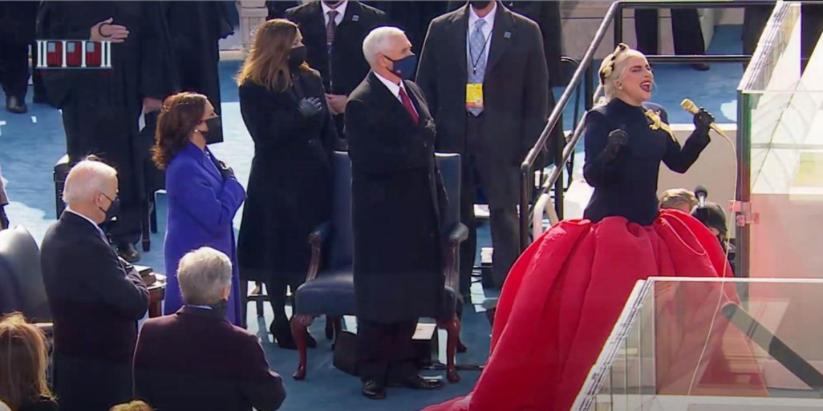 Biden Inauguration: Lady Gaga Sings American National Anthem At Ceremony