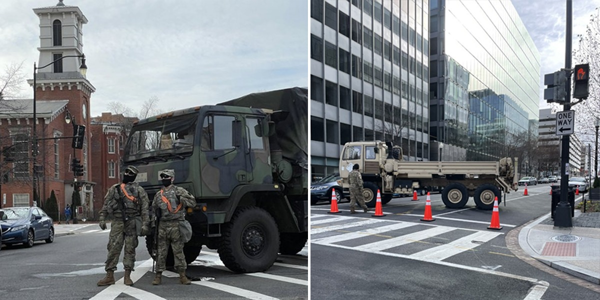 Biden's Inauguration: Washington DC Turns Into Occupied Military Zone Like Baghdad