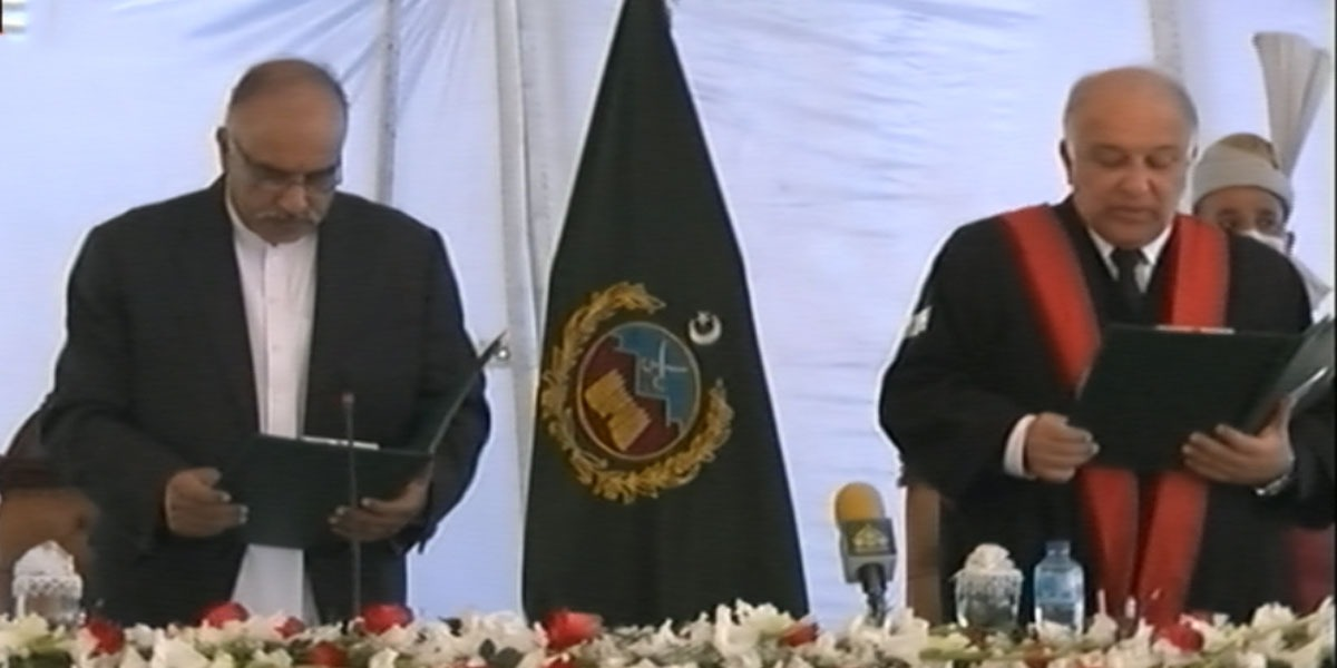 Justice Qaiser Rashid takes oath as Peshawar High Court Chief Justice