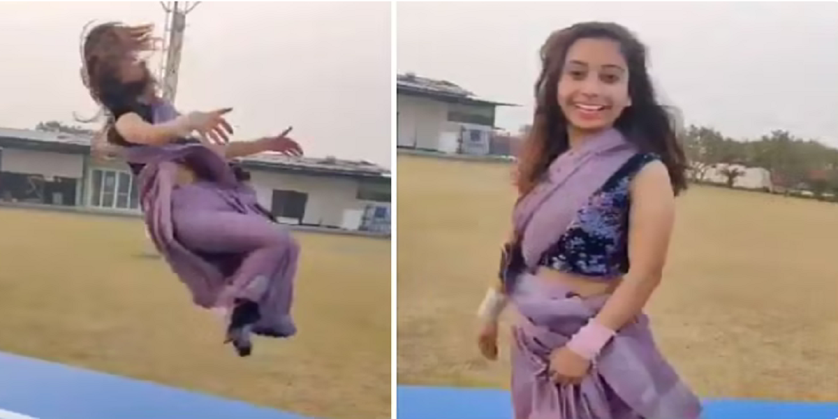 Gymnast does backflips in saree, video will leave your jaw drop!