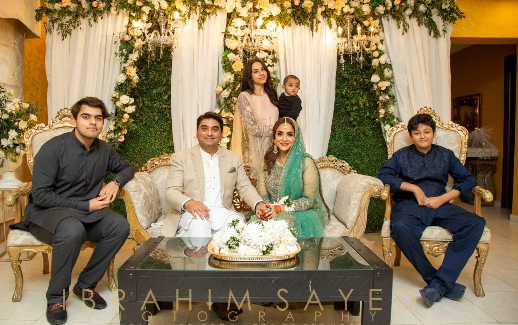 Nadia Khan and husband wedding