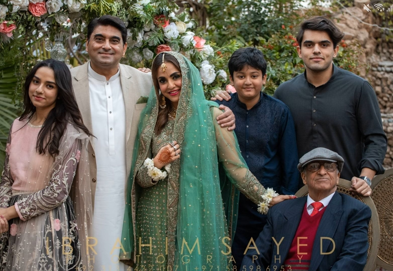 Nadia Khan kids at the wedding