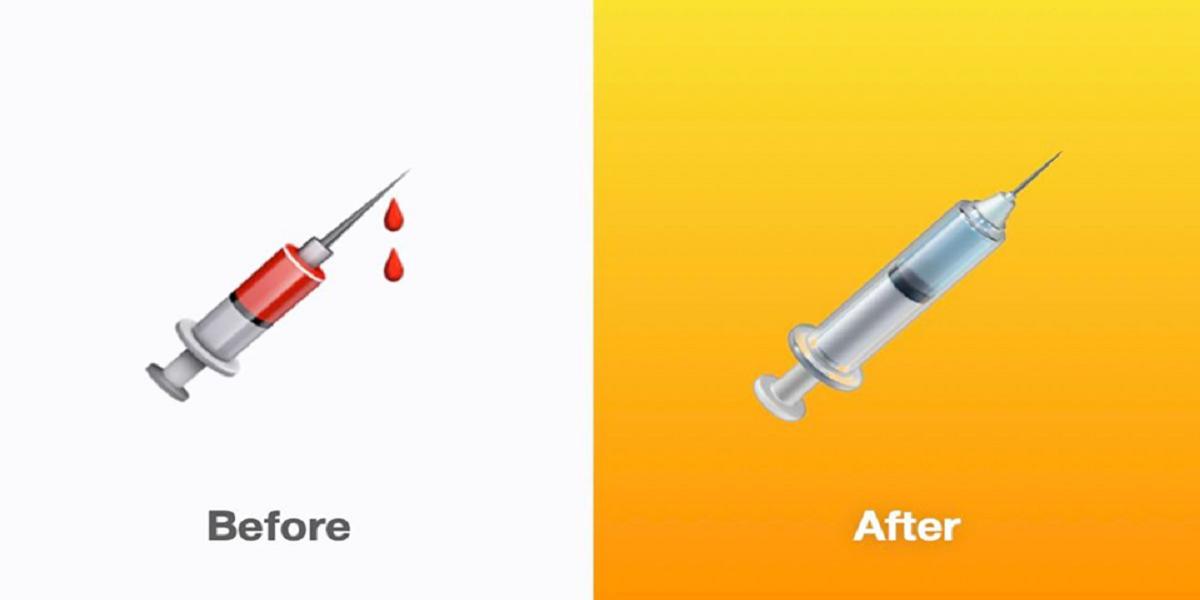 Apple Syringe emoji vaccination